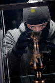 Burglar wearing black mask — Foto de Stock