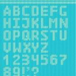 Textile vector alphabet — Stock Vector