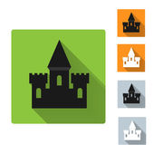Castle icon, vector illustration — Stock vektor