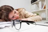 Sleeping woman — Stock Photo