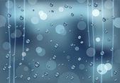 Rainy glass — Stock Vector