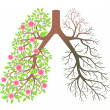 Lungs. Effect after smoking and disease — Stock Vector