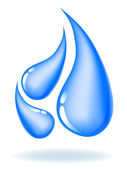 Drops of water. Ecological icon — Stock Vector