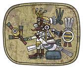 Antichi petroglifi raffiguranti un uomo — Vettoriale Stock