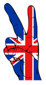Peace sign with British flag — Stock Vector