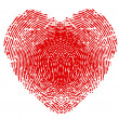 Fingerprint in form of heart — Vector de stock #20823755