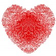Fingerprint in form of heart — Vetorial Stock #20823755