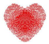 Fingerprint in the form of heart — Stock Vector