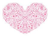 Florais coração — Vetor de Stock