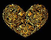 Gold heart — Stock Vector