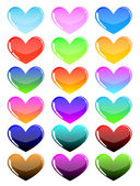 сolorful hearts — Vector de stock