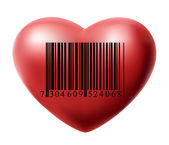 Heart with bar code — Stock Vector