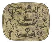Shamanic petroglyph — Stock Vector