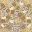 Royalty-Free Stock Vector Image: Vintage coffee background