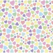 Stock Vector: Hearts on white background