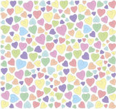 Hearts on a white background — Stock Vector