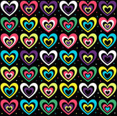 Background with the coloured hearts — Stock Vector