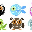 Animals — Vector de stock #21184087