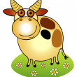 Cow on the meadow — Stock Vector