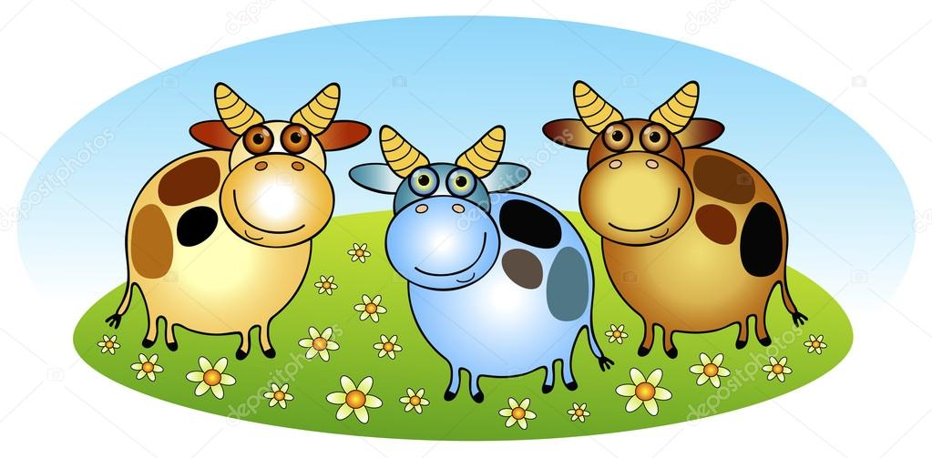 Cows on the meadow  Stock Vector #21193771