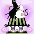 Royalty-Free Stock Vector Image: Love cats