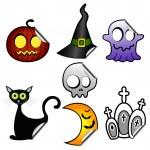 Halloween stickers — Stock Vector #21287185