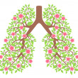 Lungs healthy — Stock Vector