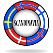 Scandinavian flags in a circle — Stock Vector #25201223