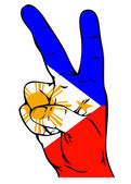 Peace Sign of the Philippine flag — Vector de stock