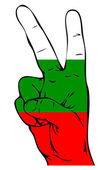 Vredesteken van de Bulgaarse vlag — Stockvector