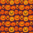 Halloween background with funny pumpkins — Stock Vector