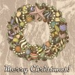 Christmas Wreath — Image vectorielle
