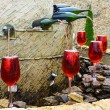 Stock Photo: Fountain of red wine