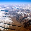 Aerial view of snow-covered mountains — Stock Photo