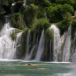 Stock Video: Waterfall in national park Krka, Croatia