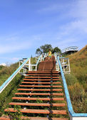 Bulgarian State Historical and Architectural Reserve. A stairs on coast of Volga. — Stock Photo