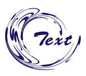 Abstrakt design-element mit text — Stockvektor