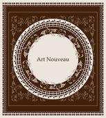 Art nouveau design floral design — Stock Vector