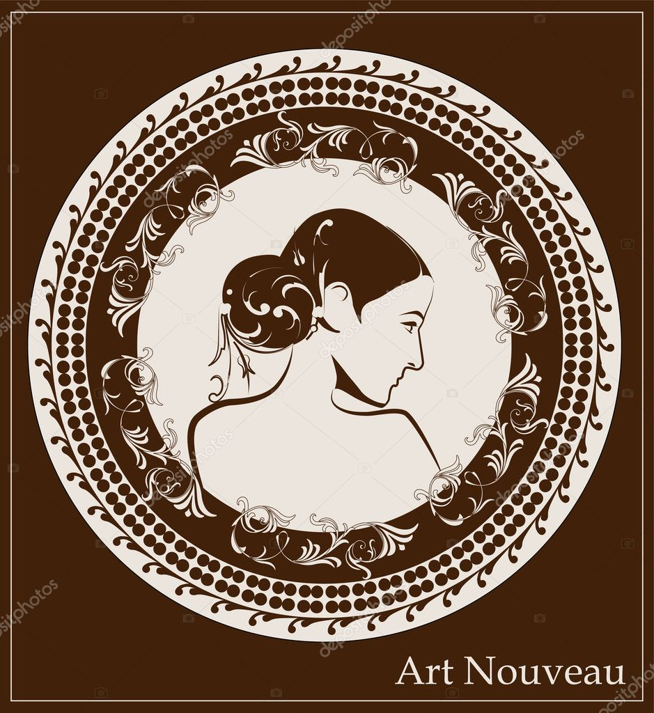 Nouveau Style Plus Art Nouveau Style — Vector