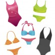 Set of the swimsuits for girls — Stock Vector #26233181