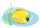 Cartoon tropical fish — Stock Vector