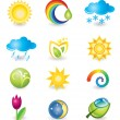 Stock Vector: Set of icons. Nature and weather