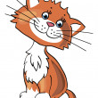 Cartoon little kitten - Imagen vectorial