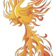 Stock Vector: Phoenix bird