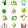 Set of nature vector icons — Stock Vector