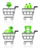 Set of shopping chart icons — Stock Vector