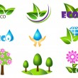 Ecology icon set. Eco-icons.  — Stok Vektör