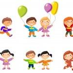 Cartoon drawings of children — Stock Vector