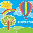 Summer vector background — Stock Vector