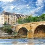 Illustration of city bridge — Stock Vector #45205665